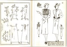Lutterloh 1939 Book Of Cards -  Models Diagram Card Page 26 & 27