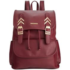 Rampage Chevron Backpack ($25) ❤ liked on Polyvore featuring bags, backpacks, backpack, wine, oversized bag, chevron bag, chevron print backpack, wine bag and wine backpack