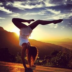 Yoga sunset in the hills!