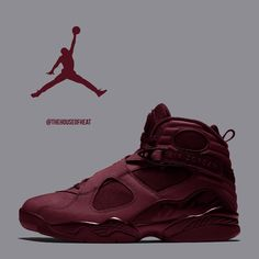"""14.6k Likes, 201 Comments - Jordan & Nike Sneaker Culture (@thehouseofheat) on Instagram: """"HOT or NOT? ❌ What do you think of our """"Maroon"""" Air Jordan 8 Concept?  #houseofheat"""""""