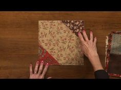 Peg Spradlin shows us a quick and easy quilting technique for your next project. Fold and Sew Quilts are fun and easy projects that may be a good change of p...