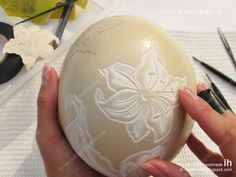 shell carving ...process