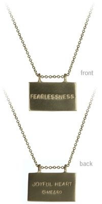 Mariska Hargitay wears this and sells them through her Joyful Heart Foundation. Someday I'll have one. I just know it.