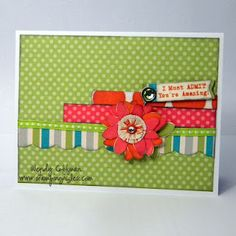 Card CTMH Wendy Coffman Dotty for You flower made of butterflies