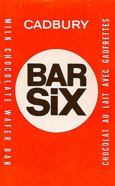 Cadbury Bar Six~Canadian, and one of my favourite chocolate bars~