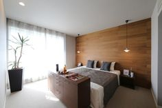 The most up to date bedroom design that is suggested for you to recognize your desire bed room layout is a bedroom design picture beginning with a basic, contemporary, minimal, to incredibly fancy design below. Natural Interior, Bedroom Images, Wood Wallpaper, My Room, Home Office, Master Bedroom, New Homes, Interior Design, Minimal