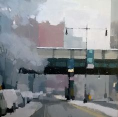 Lisa Breslow painting First Snow