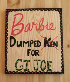 Wood Barbie sign Little Girl Room Decor Barbie Girl by KayzAttic