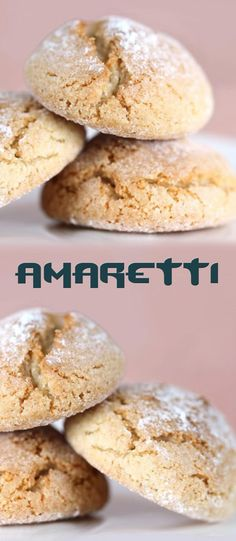 share cooking recipes like cake, cookies, dessert, appetizers and other delicious dishes recipes Amaretti Biscuits, Amaretti Cookies, Biscotti Cookies, Cookie Desserts, Cookie Recipes, Dessert Recipes, Gourmet Cookies, Italian Cookies, Italian Desserts