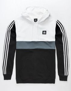 Adidas Pop Over pullover fleece hoodie. Adidas logo on front left chest. Adidas Hoodie Mens, Adidas Jacket, Mode Adidas, Look Man, Adidas Outfit, Sweatshirt Outfit, Mens Clothing Styles, Adidas Men Clothing, Fleece Hoodie