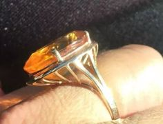 US $210.00 Pre-owned in Jewelry & Watches, Fine Jewelry, Fine Rings Citrine Ring, Cuff Bracelets, Jewelry Watches, Gemstone Rings, Fine Jewelry, Gold, Jewelry, Yellow
