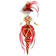 Christopher Radko Red Hot Mama Lady Italian Christmas Ornaments is rumored to represent Sophia Loren -  2000, 00-135-0