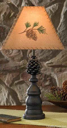 Unique lamp shades for sale pinecones rawhide lamp shade nc pine bluff lamp by park designs high cast metal textured black finish aloadofball Image collections
