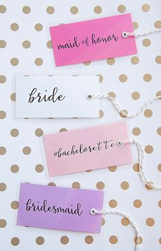 Adorable DIY bachelorette party luggage tags + free design printables!