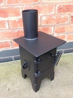 Square micro burner / caravan / vw camper van/ gas bottle woodburner/ boat stove