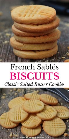 French Butter Cookies Recipe, Sable Cookie Recipe, Sable Cookies, French Cookies, Sugar Cookies Recipe, Holiday Cookie Recipes, Easy Cookie Recipes, Holiday Cookies, Christmas Recipes