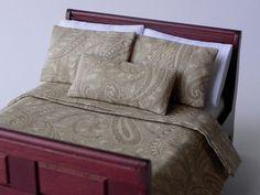 Miniature Dollhouse Paisley Bedding