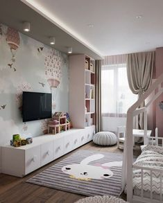 The Basics of Pattern Wall Ideas is part of Girl bedroom designs If you would like you can receive a bed customized to include everything you would like to see in your bunker bed Modifying the - Room Design, Baby Room Decor, Home, Toddler Bedrooms, Girl Bedroom Designs, Bedroom Design, Kids Bedroom Designs, Toddler Rooms, Kid Room Decor