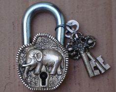 The Two Post Strike Plate is a reinforced strike plate that installs into the studs of your home or building drastically improving the deadbolt security. Deadbolt lock reinforcement to protect entry doors against forced entry and improve home security. Deco Elephant, Elephant Home Decor, Elephant Love, Elephant Art, Elephant Stuff, Elephant Design, Under Lock And Key, Key Lock, Antique Keys