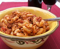 """Goulash recipe Inspired by Bobby Deen, though I call this """"macaron 'n meat"""". My favorite school cafeteria food of all time."""