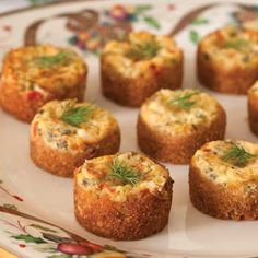 Lobster Cheesecakes (mini) @keyingredient #cheese #cheesecake