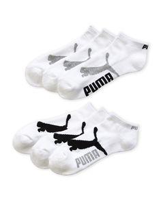 Puma 6-Pack Low Cut Logo Ankle Socks