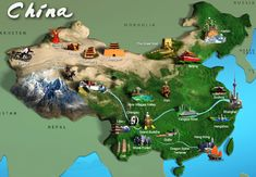map of china showing tourist attractions