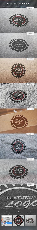Textured Logo Mockup Pack
