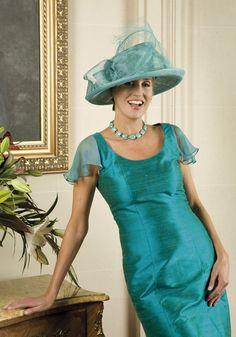 50% Off... Paule Vasseur Dress with Jacket,  Style: BE-CAM-RIZ; Colour: 435 Emeraude. (Size 12, & size 20)