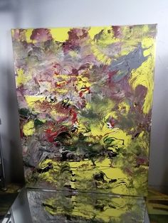 ORIGINAL CANVAS Authentic Painting Artist MUSK YAI 16X20 ABSTRACT #WILD