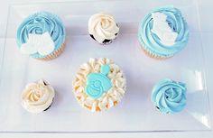 Cupcakes bebé, bautizo, bebé.