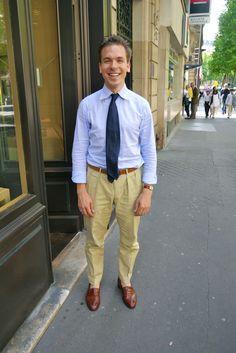 Gauthier de chez Edward Green. Style classique et efficace! Magnifique soulier E.G, Cravate Arnys, Chino sur mesure, Chemise sur mesure!!!!!!