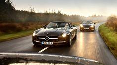 Merc SLS roadster & Aston Virage Volante