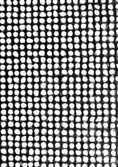 Black & white pattern with textural dots; monochrome print design