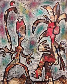 ' Knock Knock ' Mixed media on board by Jeff Roland 2018 Fine Art Gallery, Weaving, Knock Knock, Artist, Mixed Media, Painting, Website, Board, Painting Art