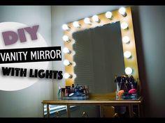 DIY Vanity Mirror With Lights - YouTube