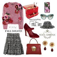 Fall Sweater by nicolevalents on Polyvore featuring polyvore fashion style Dolce&Gabbana clothing