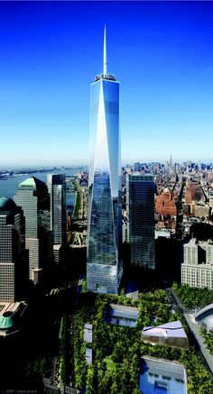 #6 One World Trade Center — New York City. Height : 1,776.02 feet