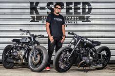 BMW R100 Bobber & BMW R80 Brat Style by K-Speed Superbike parts #motorcycles #bobber #motos | caferacerpasion.com