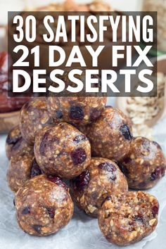 21 Day Fix Dessert Recipes   Chocolates, chia seeds, apples, mug cakes, and ice cream, OH MY! Clean eating has never been easier to sustain than with this collection of simple desserts for weight loss! Instead of depriving yourself, learn how to indulge without the bulge with these make ahead 21 Day Fix treats! #21dayfixdesserts #21dayfixrecipes #21dayfixapproved #21dayfixextreme 21 Day Fix Desserts, 21 Day Fix Snacks, 21 Day Fix Diet, 21 Day Fix Meal Plan, Clean Eating Desserts, Healthy Dessert Recipes, Health Desserts, Healthy Snacks, Eating Healthy