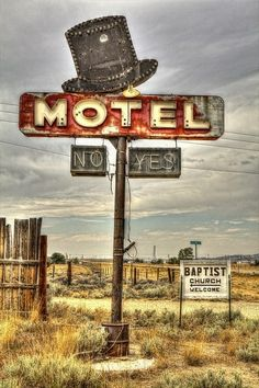 Old Lonely Motel Sign