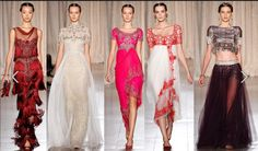 Sheer style evening gowns