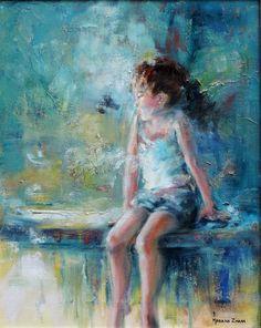 Fragile.  oil 50x40 cm.  Art by Mariana Zwaan.