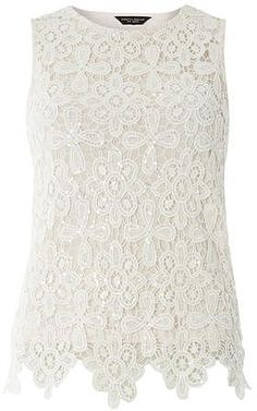 Womens ivory top from Dorothy Perkins - £22 at ClothingByColour.com