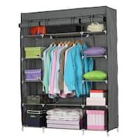 Buy Closet Organizers & Systems Online at Overstock | Our Best Storage & Organization Deals Portable Wardrobe, Portable Closet, Canvas Wardrobe, Wardrobe Closet, Storage Cabinets, Storage Shelves, Storage Organization, Wardrobe Organisation, Bedroom Organization