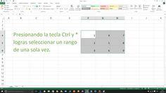 Selecciona las celdas de Excel rápidamente