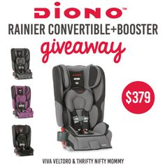 Sometimes we overlook safety aspects while traveling with small children. Learn more about safety and enter to win a Diono Rainier Convertible+Booster seat!