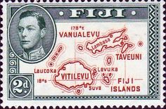Fiji 1938 SG 254 Map of Fiji Islands Fine Used SG 253 Scott 120 Die I Other British Commonwealth Empire and Colonial stamps Here