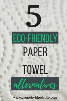 Paper towels are horrible for the environment. Check out these simple and cheap alternatives to replace your paper towel use.