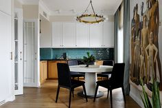 Wallpaper is fashionable Discover it! - Home Design & Interior Ideas Room Interior, Interior Design Living Room, Rooms Ideas, Beautiful Dining Rooms, Dining Room Inspiration, Dining Room Design, House Rooms, Interiores Design, Home Design